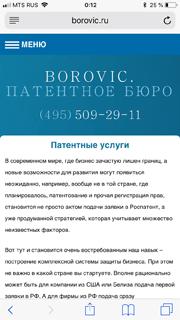Отзыв от borovic.ru