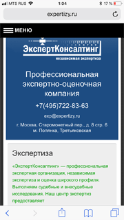 Отзыв от expertizy.ru